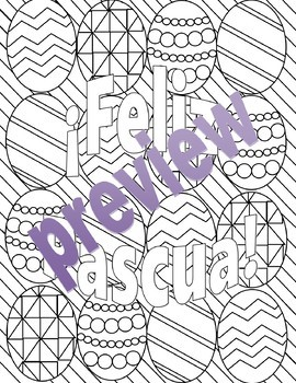 Semana Santa y Pascua - Spanish Easter Adult coloring Pages BUNDLE