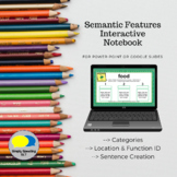 No Print Semantic Features Interactive Notebook- Categories, Location & Function