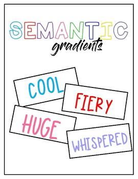Semantic Gradient / Vocabulary