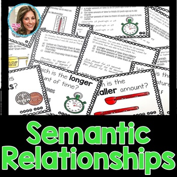 Semantic Relationships | Speech and Language Therapy | Word Relationships