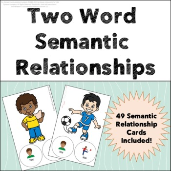 Semantic Relationships Worksheets & Teaching Resources | TpT