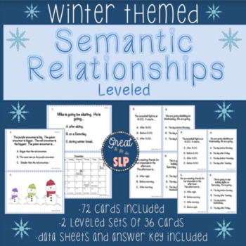 Semantic Relationships- Winter Themed