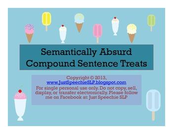 Semantically Absurd Compound Sentence Treats FREEBIE
