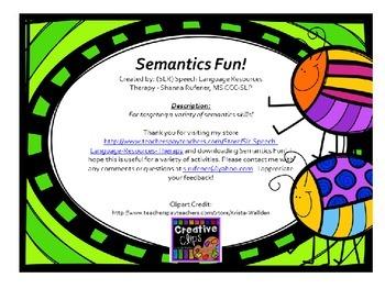 Semantics Fun!