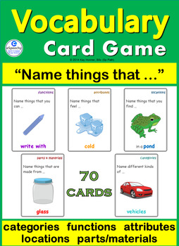 """Card Game: Vocabulary Building """"Name Things That..."""""""