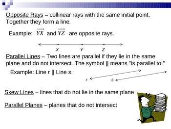 Sements, Rays, Parallel Lines, and Planes Power Point Lesson