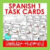 Spanish Christmas Activity - Holiday Task Cards for Spanish 1 Review