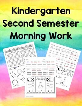 Semester 2 Kindergarten Morning Work