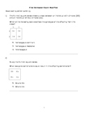MS Science Semester Exam with objectives (8th grade AZ)