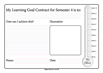 Semester Goal Contract - Whole Year