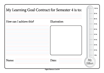 Semester Goal Contract - Whole Year (Percentage)
