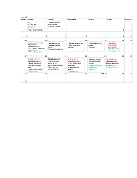 Semester Long Plan