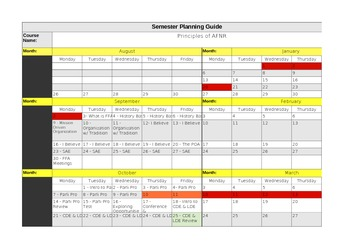 Semester Planning Guide 2013-2014