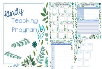 Semi-Editable Teacher Planner (Leaf themed) - Australian Teacher friendly ed.