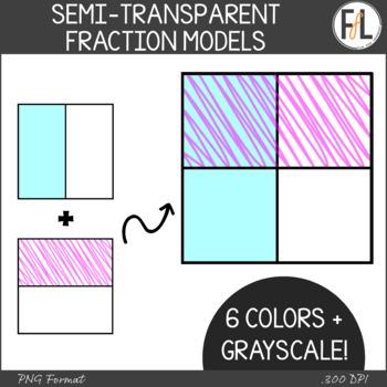 Fraction Models Clipart