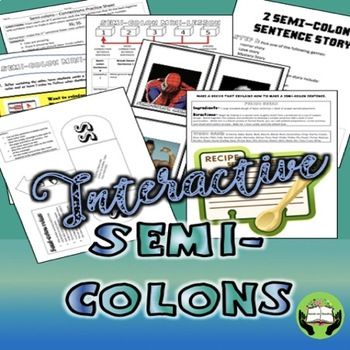 Semi Colons Interactive Practice For Older Students Grades 7 11 NO PREP