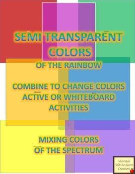 Semi-transparent Square Pngs Colors of the Rainbow Spectrum