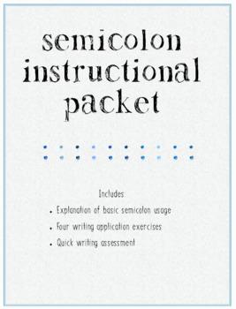 Semicolon Instructional Packet