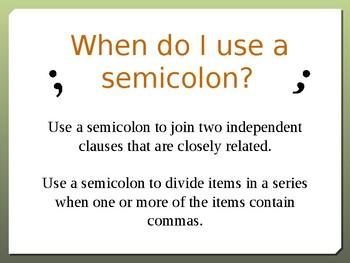 Semicolon Power Point