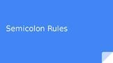Semicolon Rules