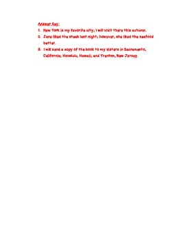 Semicolon Rules & Practice
