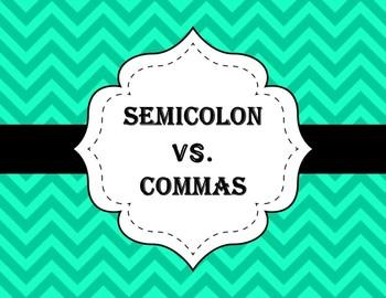 Semicolon vs. Commas