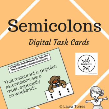 Semicolons Boom Cards