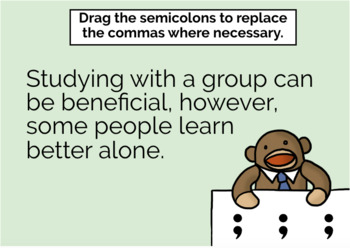 Semicolons Boom Cards - Distance Learning