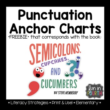 Semicolons, Cupcakes, and Cucumbers Punctuation Posters Freebie