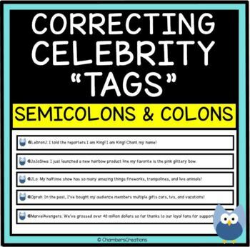 """Semi-colons and Colons: Correcting Celebrity """"Tweets"""""""
