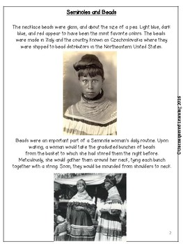 Seminole Indian Women and Beads