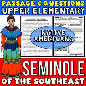 Native Americans Activity: Seminole Passage with Questions