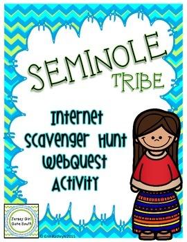 Seminole American Indians of the Southeast Internet Scavenger Hunt WebQuest