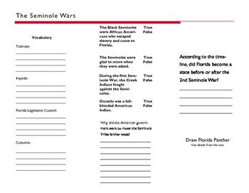 Seminole Wars-Florida Studies Weekly Week 15