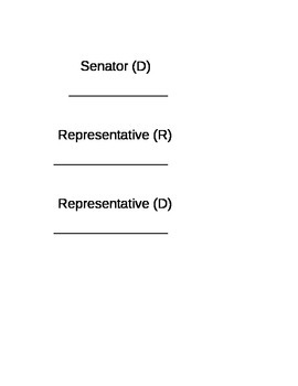 Senate and House of Representatives activity
