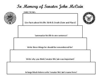 Senator John McCain Mini Biography