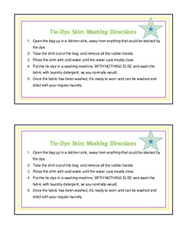 This is a picture of Smart Tie Dye Instructions Printable