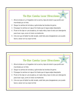 This is a picture of Zany Tie Dye Instructions Printable
