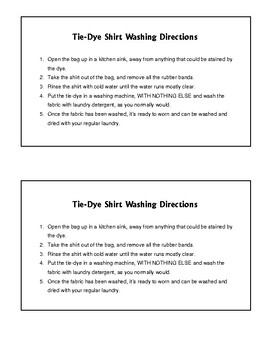 This is a picture of Slobbery Tie Dye Instructions Printable