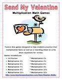 Send My Valentines - Multiplication Math Games