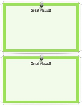 EDITABLE Positive Notes Home to Families