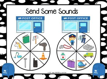 Send Some Sounds:  NO PREP Community Themed Same Beginning Sounds Spin Game