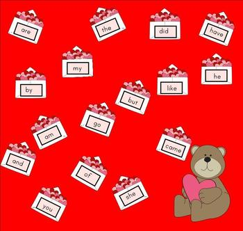 Send a Valentine Sight Word Game