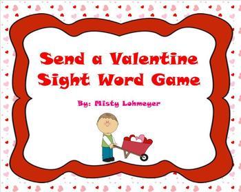 Send a Valentine Sight Word Game