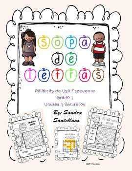Senderos 1st Grade Unit 1 Sopa de letras, Word Search