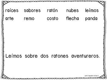 Senderos 1st Grade Unit 3 Decodable Words