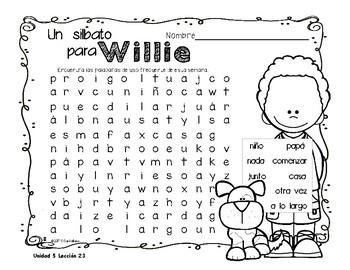 Senderos 1st Grade Unit 5 Sopa de letras, Word Search