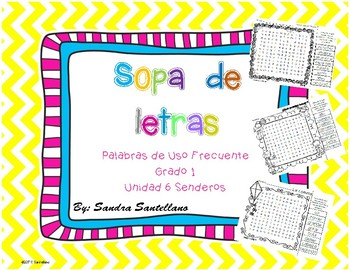 Senderos 1st Grade Unit 6 Sopa de letras, Word Search