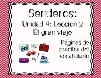 Senderos: Primer Grado: Unidad 4: Lección 2: Práctica del vocabulario