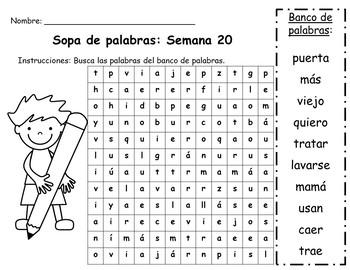 Senderos: Primer Grado: Unidad 4: Lección 5: Práctica del vocabulario